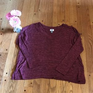 Old Navy Maroon oversized sweater - Size L